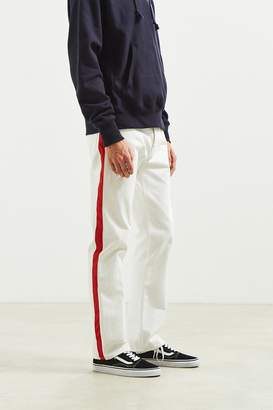 Calvin Klein High Taped White + Red Straight Jean