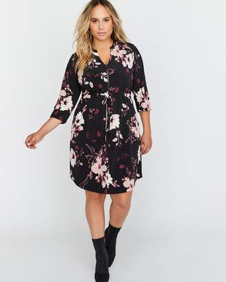 3/4 Sleeve Printed Shift Dress - Michel Studio