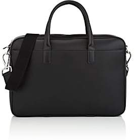 Araldi 1930 Men's Leather Briefcase-Black