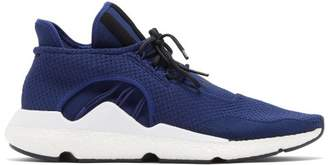 Y-3 Saikou Low Top Knitted Trainers - Mens - Navy