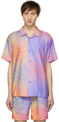 Double Rainbouu Multicolor Champagne Supernova Hawaiian Shirt