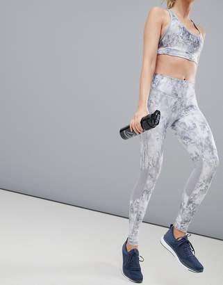 Reebok Running Gray Printed Leggings