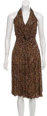 Michael Kors Printed Casual Dress Brown Printed Casual Dress