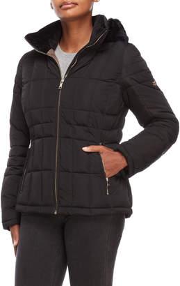 Calvin Klein Faux Fur Collar Jacket