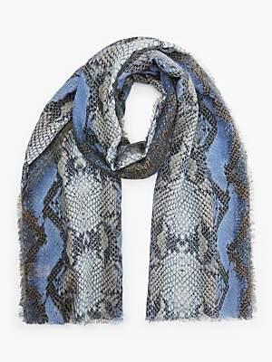 Becksöndergaard Sigrid Snake Print Scarf, Blue
