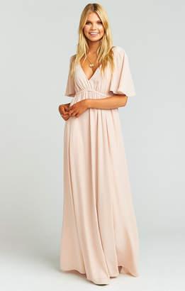 Show Me Your Mumu Emily Maxi Dress ~ Dusty Blush Crisp