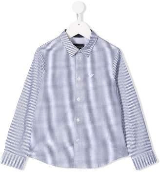 Emporio Armani Kids checked shirt
