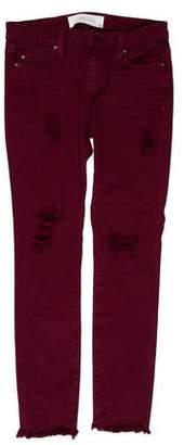 IRO Distressed Mid-Rise Skinny Leg Jeans