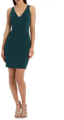 Lattice Detail Bodycon Dress