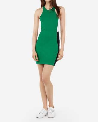 Express Color Block Side Racerback Bodycon Dress