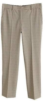 MANGO Check crop trousers