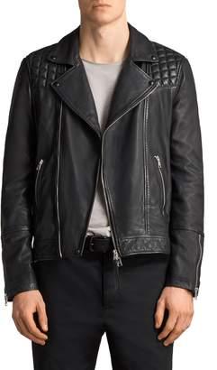 AllSaints Taro Slim Fit Leather Biker Jacket