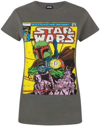 Star Wars Official Boba Fett Comic Women's T-Shirt (XL)