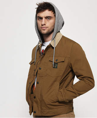 Hooded Hacienda Canvas Trucker Jacket