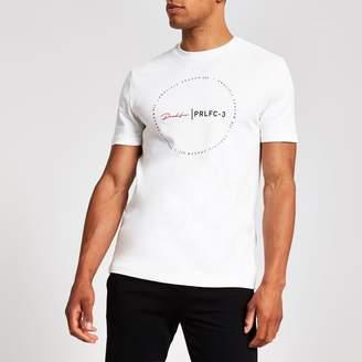 26e3aac1f1f3 River Island Mens White slim fit 'Prolific' circle T-shirt