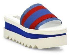 Stella McCartney Striped Platform Slides $590 thestylecure.com