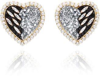 Shourouk Glittered-Resin Crystal Clip Earrings