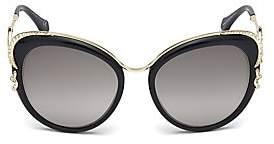 Roberto Cavalli Women's 56MM Round Logo Sunglasses