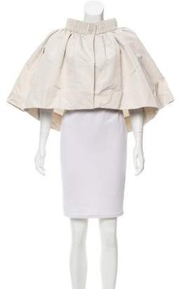 Moncler Embroidered Off-The-Shoulder Jacket w/ Tags