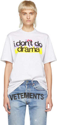 Vetements Grey New York Tourist T-Shirt