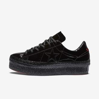 Converse One Star Platform Patented 90s Leather Low Top Womens Shoe