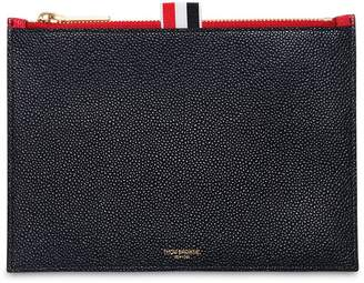 Thom Browne Extra Small Zipper Pebbled Leather Pouch