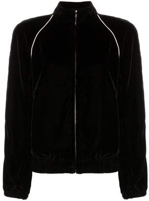 Philosophy di Lorenzo Serafini contrast piping velour track jacket
