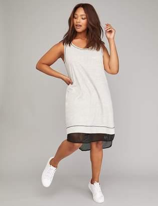 Lane Bryant Sleeveless Mesh-Hem Active Dress