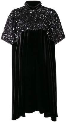 Talbot Runhof asymmetric hem sequined dress