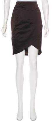 CNC Costume National Satin Knee-Length Skirt