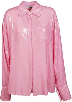 MSGM Oversized Sequined Shirt