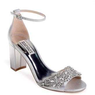 Badgley Mischka Hines Embellished Block Heel Sandal