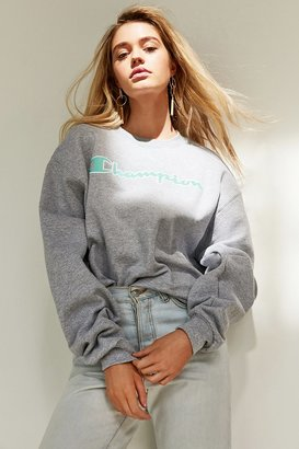 Champion + UO Powerblend Logo Crew-Neck Sweatshirt $55 thestylecure.com