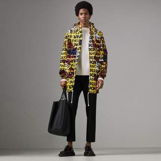 Burberry Graffiti Archive Scarf Print Hooded Jacket