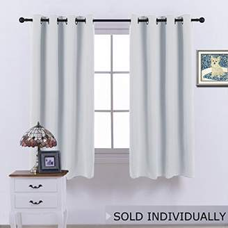 NICETOWN Room Darkening Curtain for Bedroom - (Greyish White/Silver Grey Color) Solid Thermal Insulated Blind Room Darkening Drape/Drapery for Windows