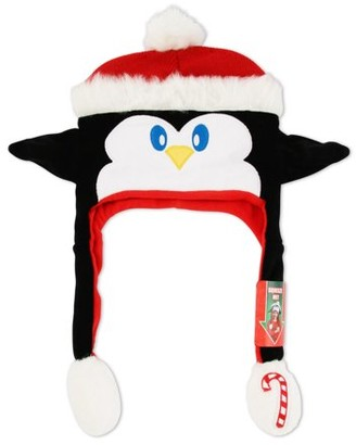 ABG Accessories Ugly Christmas Penguin 'Squeeze and Flap' Fun Hat, Little Girls, Age 4-7