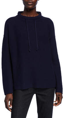 Eileen Fisher Drawstring Funnel-Neck Sweater