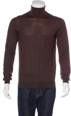 Prada Cashmere & Silk Turtleneck Sweater