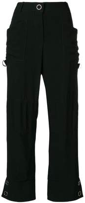 Giorgio Armani side stripe detail trousers