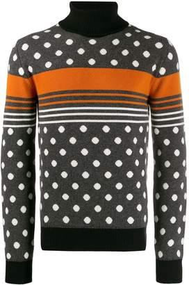 Dolce & Gabbana polka dot intarsia jumper