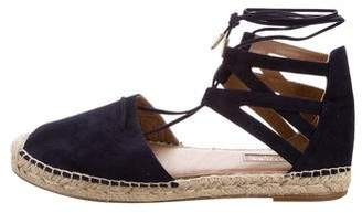 Aquazzura Belgravia Lace-Up Espadrilles