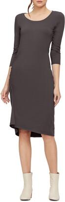 Michael Stars Tina Ruched Stretch Cotton Body-Con Dress