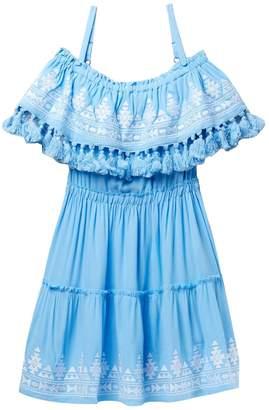 Vintage Havana Off-Shoulder Mini Dress