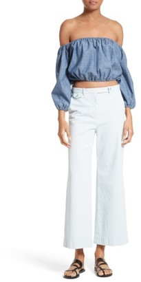 Women's Theory Nadeema Crop Flare Leg Chinos $235 thestylecure.com