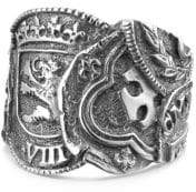 David Yurman Sterling Silver Shipwreck Coin Band Ring