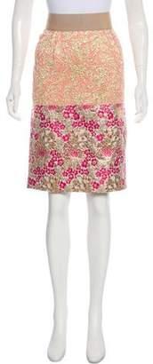 Dolce & Gabbana Textured Knee-Length Skirt