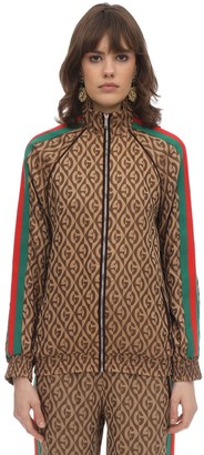 Gucci GG JACQUARD ZIP-UP SWEATSHIRT