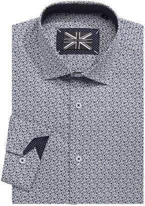 Soul Of London Guitar-Print Long Sleeve Dress Shirt