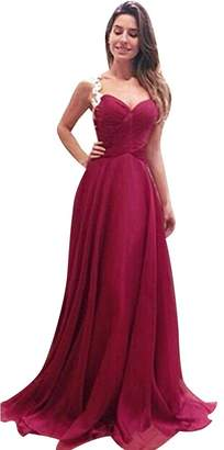 Fashion Story Lace Long Maxi Dress Chiffon Evening Formal Party Dress Prom Gown