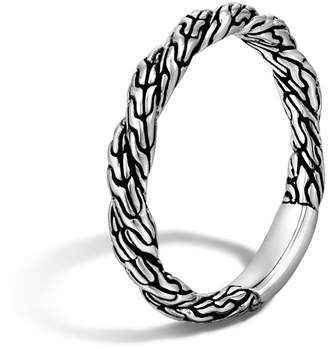 John Hardy Classic Chain Twisted Band Ring, Size 6